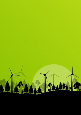 Alternative energy electricity wind generators Vector