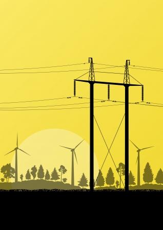 Alternative energy electricity wind generators Stock Vector - 20900022