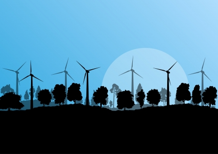 Alternative energy electricity wind generators Stock Vector - 20900199