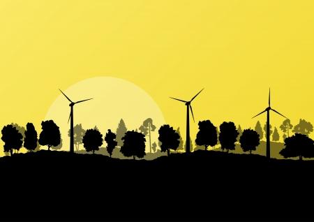 Alternative energy electricity wind generators Stock Vector - 20900334