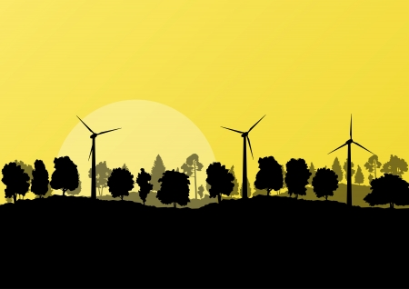 ecologically: Alternative energy electricity wind generators
