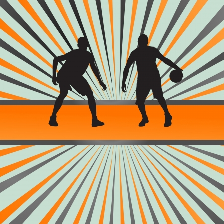 Basketball player vector abstract background concept for poster