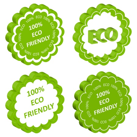 environmentally: Eco friendly vector stamp or label ecology background concept Illustration