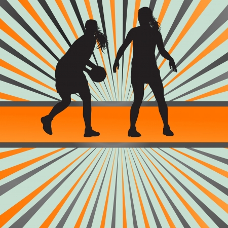 layup: Basketball player vector abstract background concept for poster