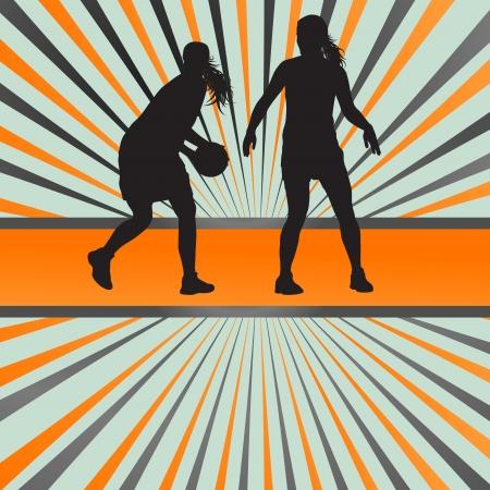 Basketball player vector concept abstrait de fond pour l'affiche Banque d'images - 21445866