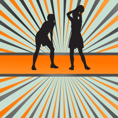 Basketball player vector abstract background concept for poster Vector