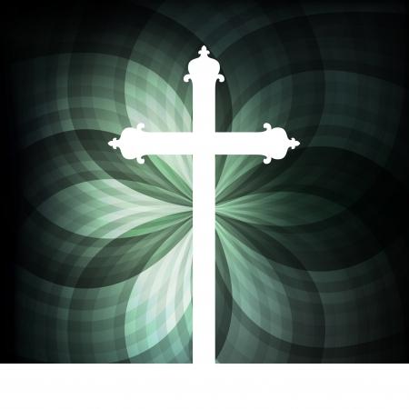 pasqua cristiana: Croce vettore sfondo concetto astratto per il manifesto