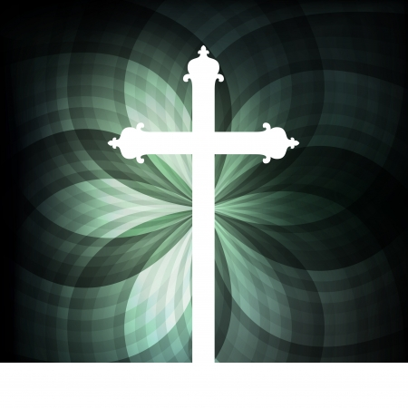 wooden cross: Cross vector abstract background concept for poster