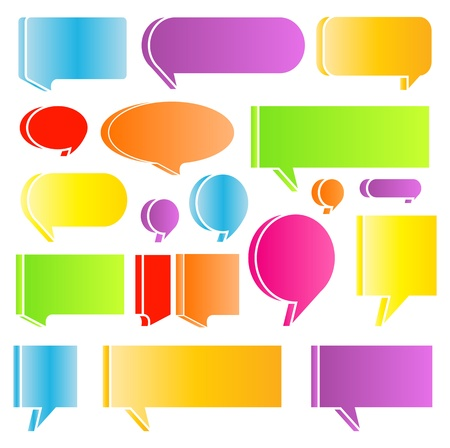 Speech bubbles colorful vector abstract set background