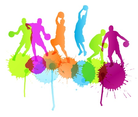 Basketball players vector abstract background Vector