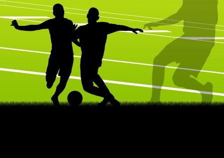 keeper: Soccer football player active sport silhouette vector background illustration