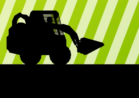 Front loader vector abstract background concept for poster Vector