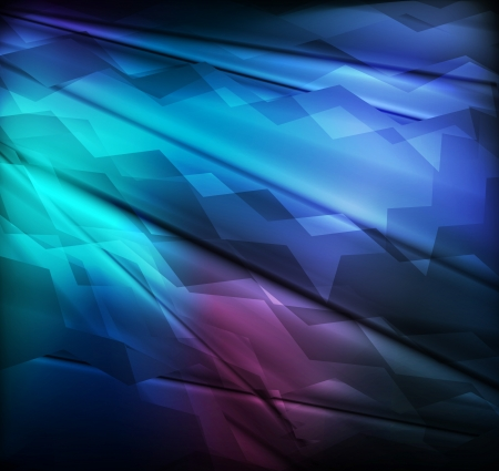 Neon abstract blue lines design on dark background vector for poster Vector