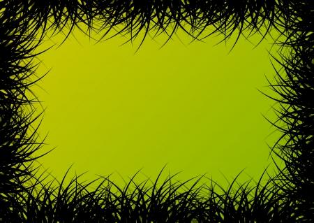 untamed: Grass detailed silhouette landscape illustration background vector for poster