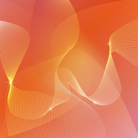sharp curve: Abstract orange background vector concept template with waves Illustration