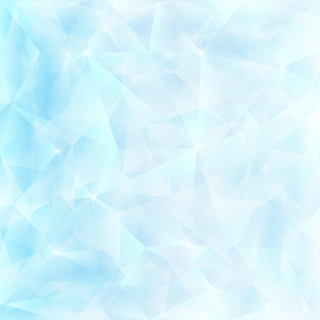 Crystal fractal abstract background concept template for poster Vector