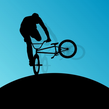 Extreme cyclists bicycle riders Vector
