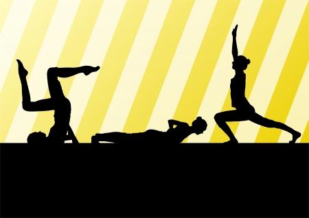 Yoga silhouettes  Stock Vector - 25195264
