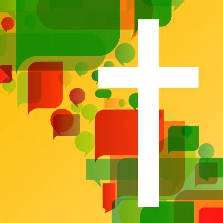Cristianismo religión concepto cruz de mosaico de fondo abstracto