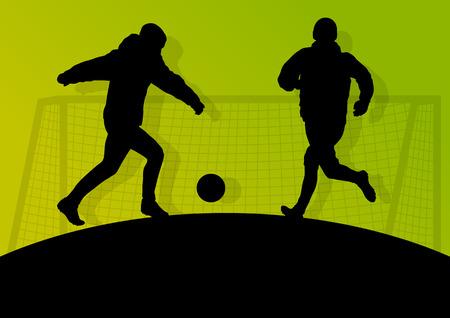 street shots: Soccer player vector background concept Illustration