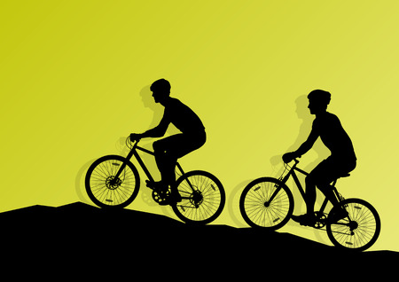 Active cyclist bicycle rider background illustration vector for poster Vector