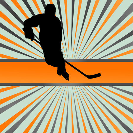 hockey background: Ice hockey player silhouette sport abstract vector background concept for poster