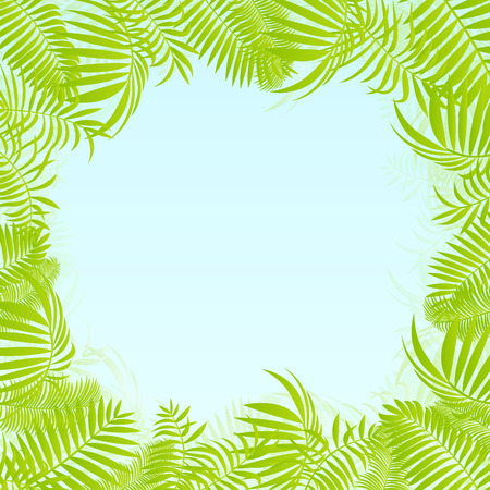 untamed: Hojas de la selva bosque ex�tico, pasto y hierbas vector de fondo Vectores