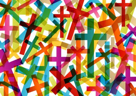espiritu santo: Cristianismo concepto religión cruz fondo abstracto ilustración vectorial