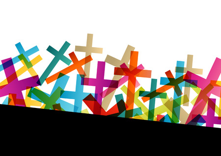 Christianity religion cross concept abstract background vector illustration Vector