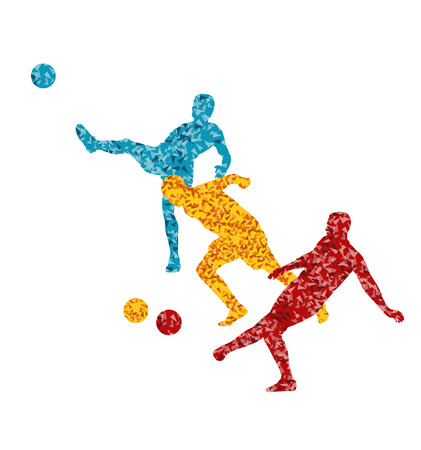 dribble: Soccer football player vector background concept