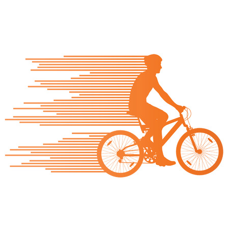 contestant: Cyclist vector background concept made of stripes for poster Illustration