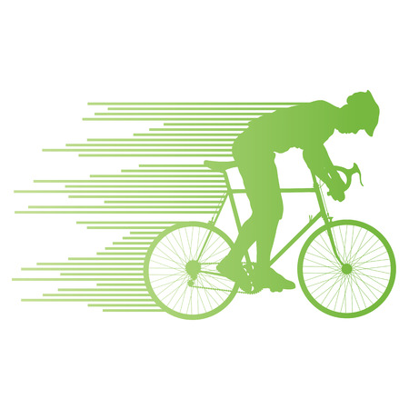bicycle race: Cyclist vector background concept made of stripes for poster Illustration