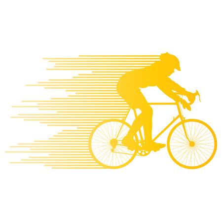 one wheel bike: Cyclist vector background concept made of stripes for poster Illustration