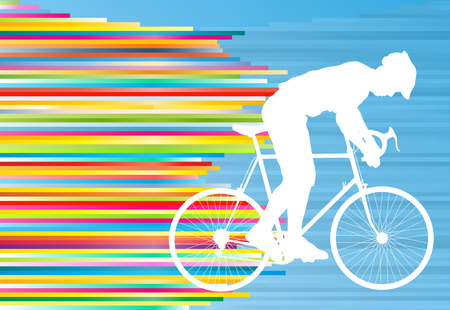 contestant: Cyclist vector background concept template made of stripes for poster