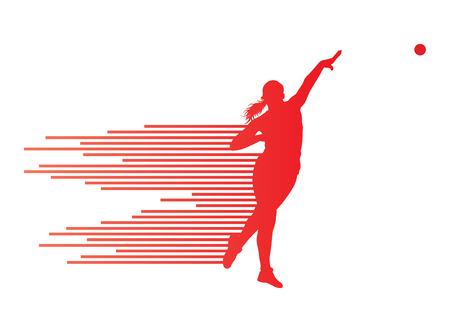 lanzamiento de bala: Atlético tiro vector poner el concepto de fondo para el cartel