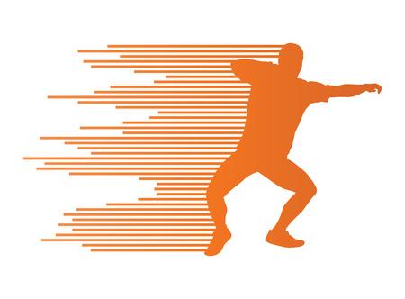shot put: Athletic shot put vector background concept for poster Illustration