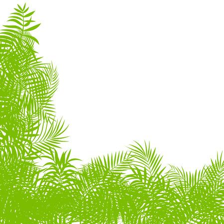 untamed: Hojas de la selva bosque ex�tico, pasto y hierbas de vectores de fondo para el cartel