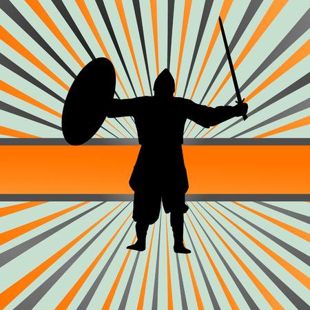 crusader: Medieval knight, warrior vector background concept