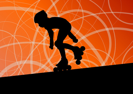 little skate: Roller skating vector background concept