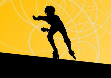 rollerblade: Roller skating vector background concept