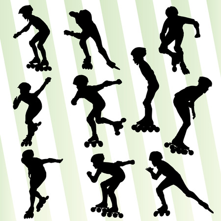 roller skates: Kid roller skating