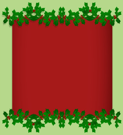 spiked: Christmas holly berry vintage holiday decoration illustration background vector