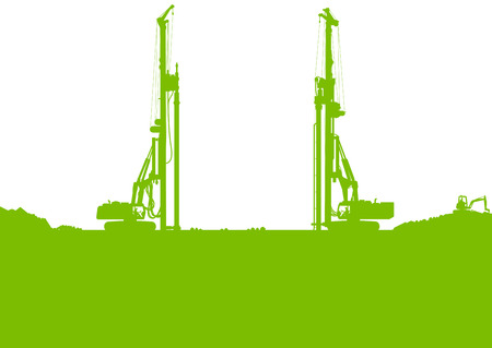 Ecology industrial construction site vector background illustration card concept Vector