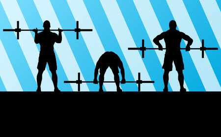 Crossfit training with weights vector background concept for poster Vector