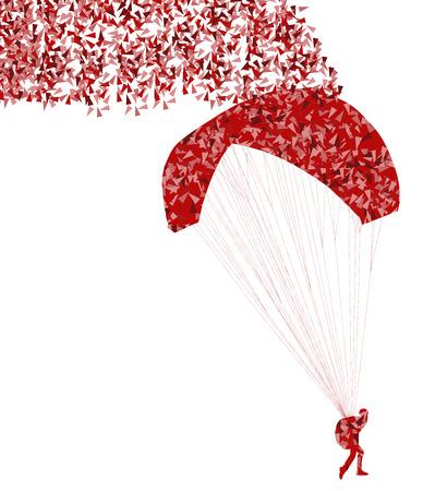 hang glider: Paragliding active sport
