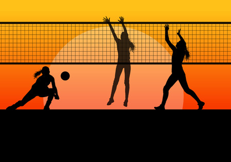 volleyball player: Volleyball woman player background concept