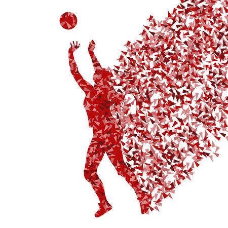 Volleybal vrouw speler, achtergrond, concept Vector Illustratie