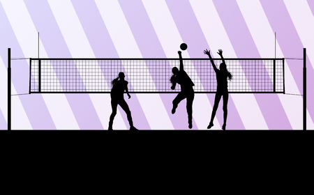 volley: Volleyball woman player background concept