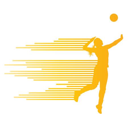deportistas: Voleibol mujer concepto jugador fondo Vectores