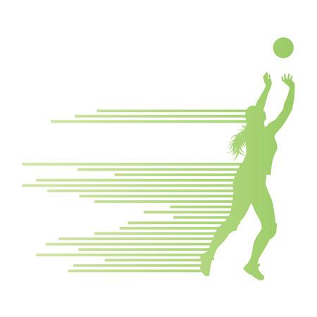 volleyball serve: Voleibol mujer concepto jugador fondo Vectores